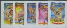 AUS SG2823-7 Circus: Under the Big Top self-adhesive set of 5 from booklet (exSB242)